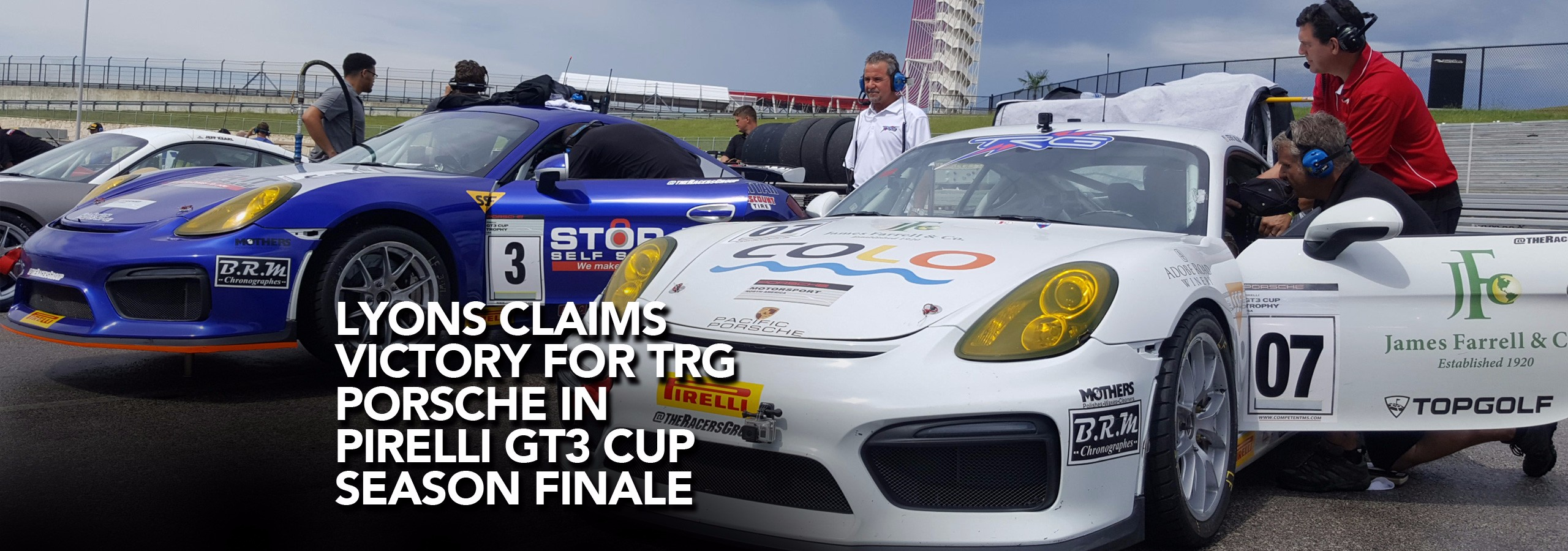 Lyons Claims Victory For TRG Porsche in Pirelli GT3 Cup Season Finale
