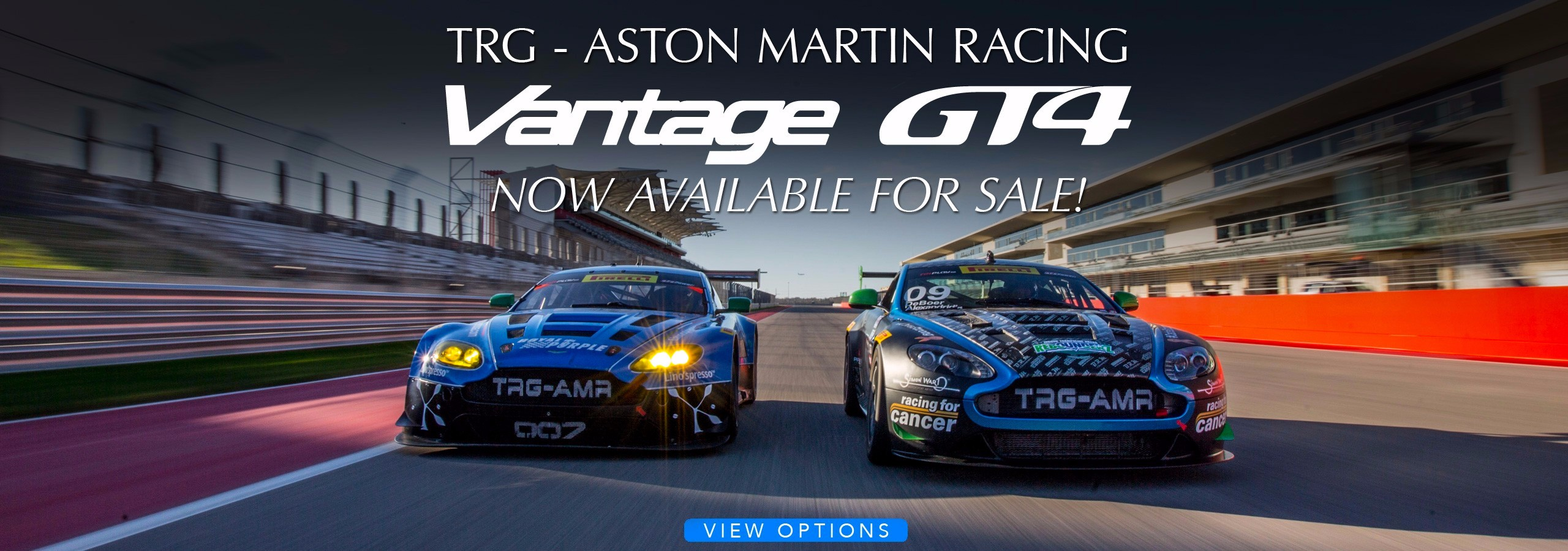 TRG-Aston Martin V8 Vantage GT4s Now Available for Sale!