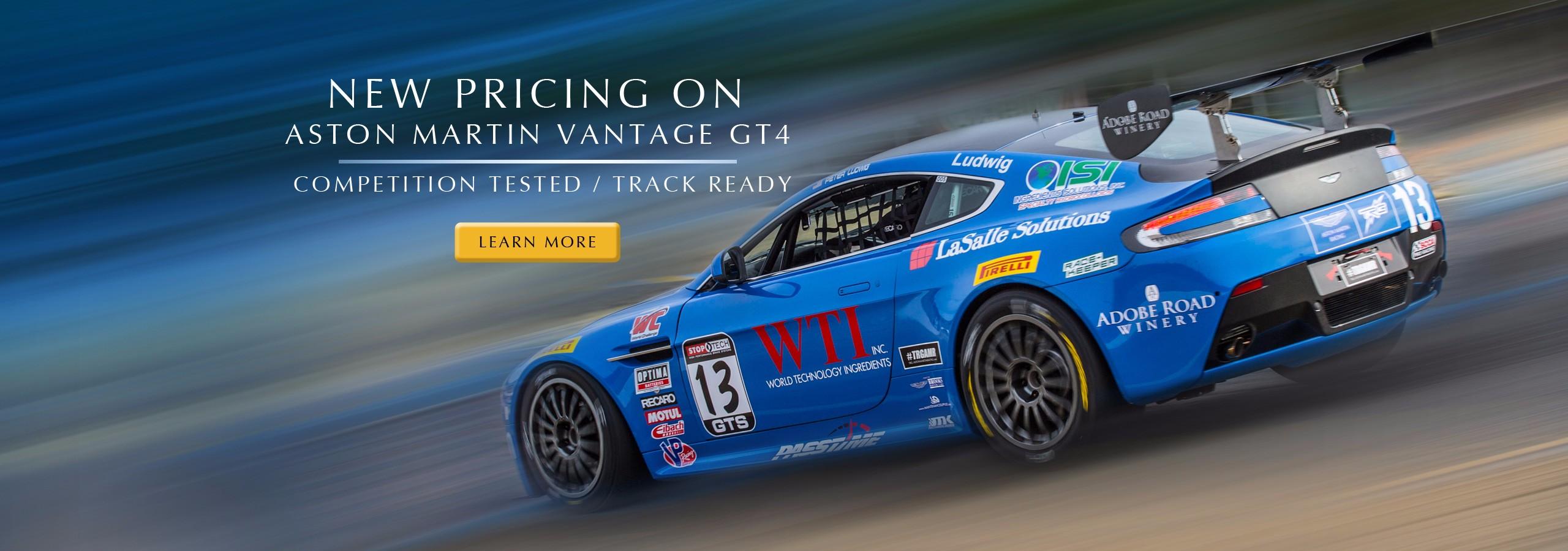 Aston Martin Vantage GT4 racecar - Price Drop