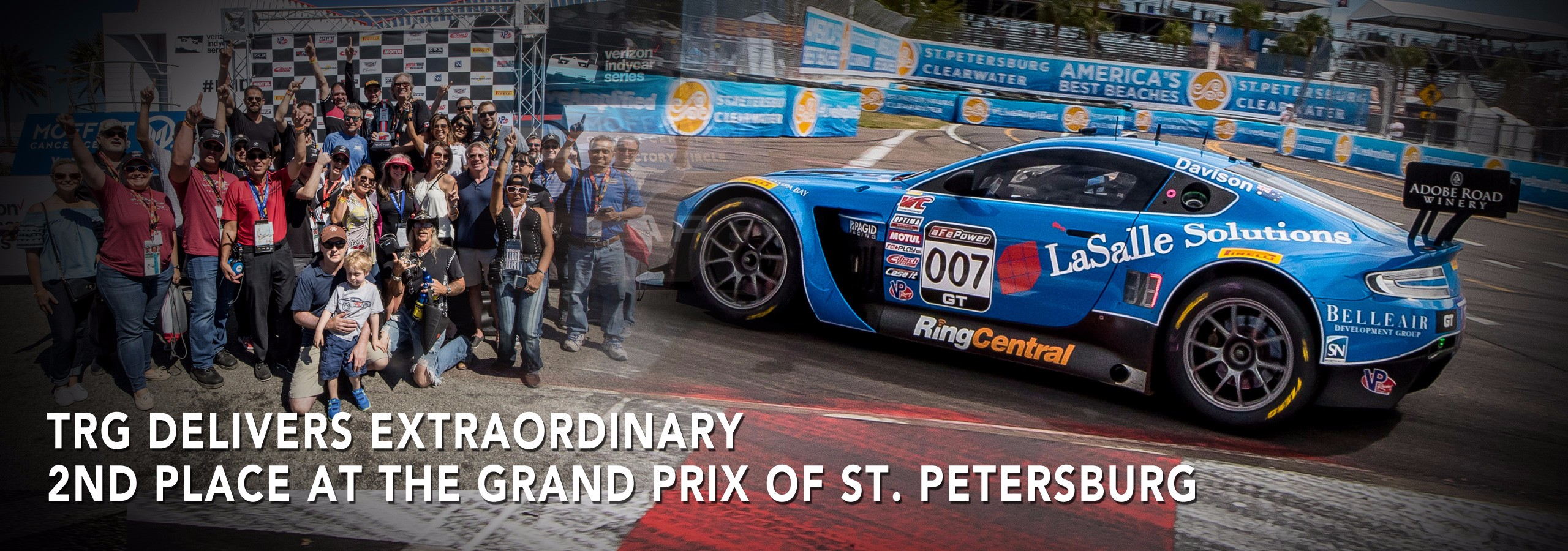 TRG delivers extraordinary 2nd place at the Grand Prix of St. Petersburg