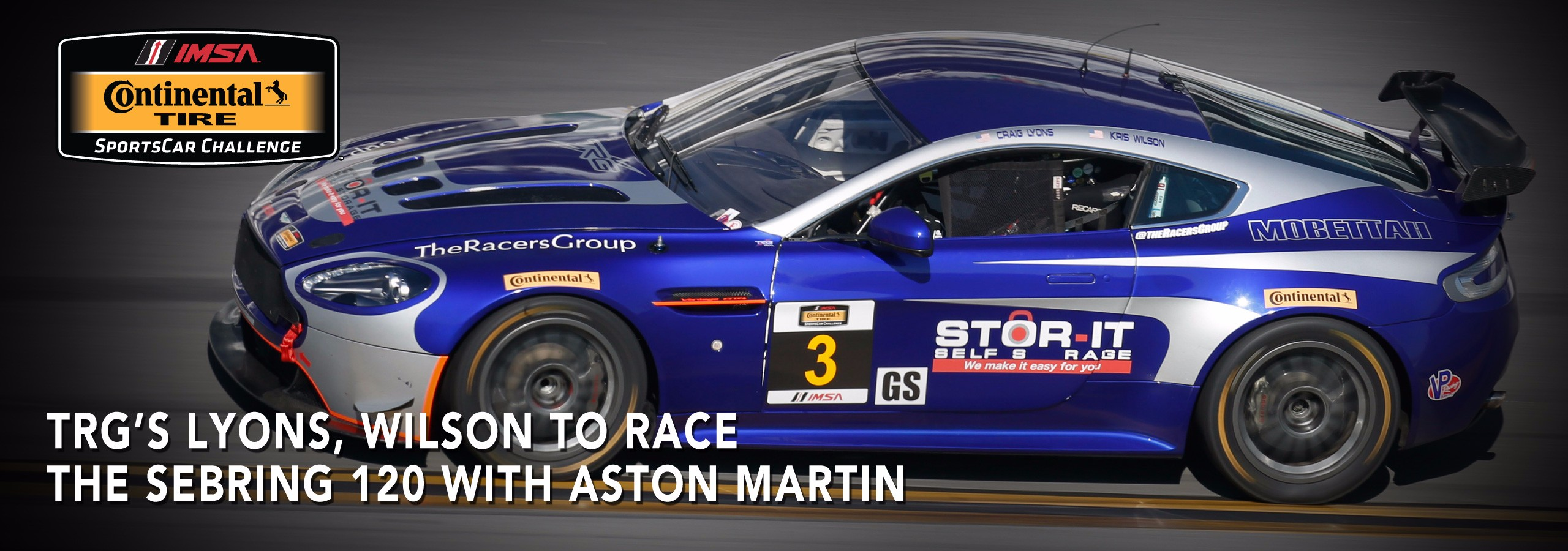 TRG's Lyons, Wilson To Race The Sebring 120 with Aston Martin