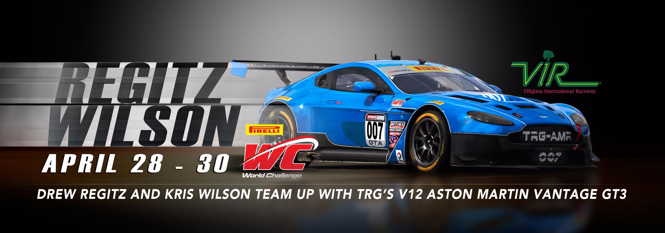 Drew Regitz and Kris Wilson Team Up with TRG's V12 Aston Martin Vantage GT3