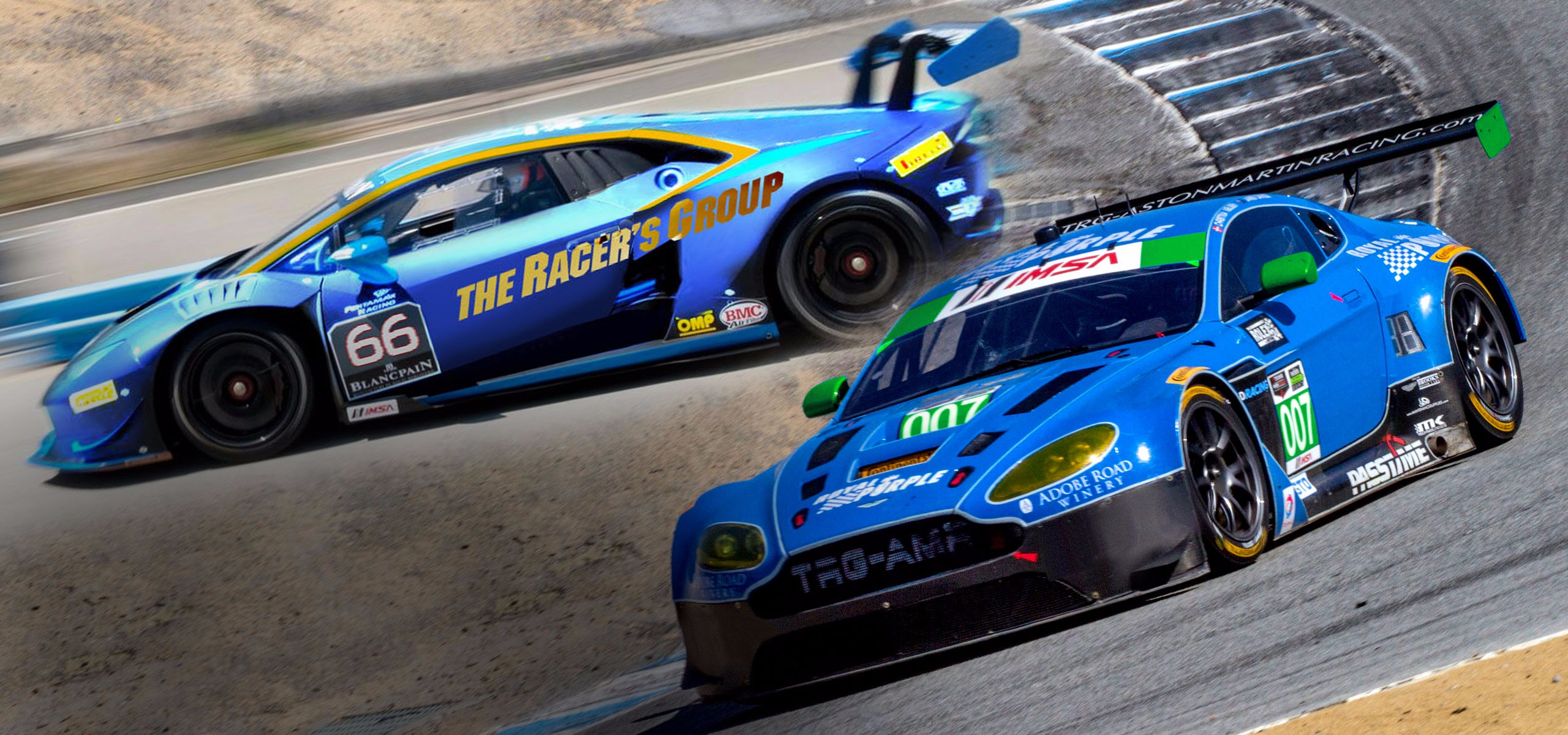 TRG Doubles Down For Laguna Seca With Both Aston Martin and Lamborghini