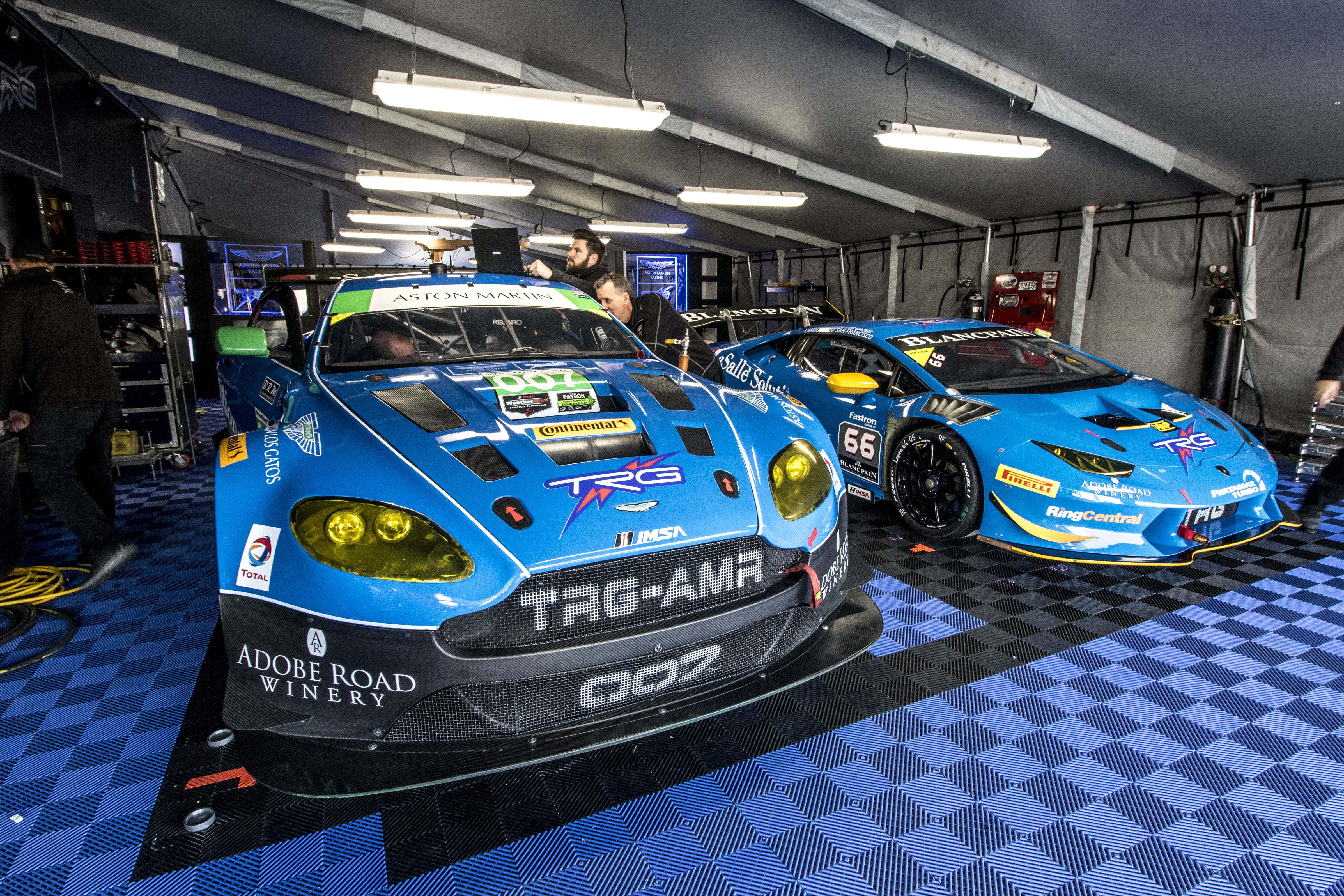 TRG Takes Double Podiums with Aston Martin and Lamborghini at Laguna Seca Raceway