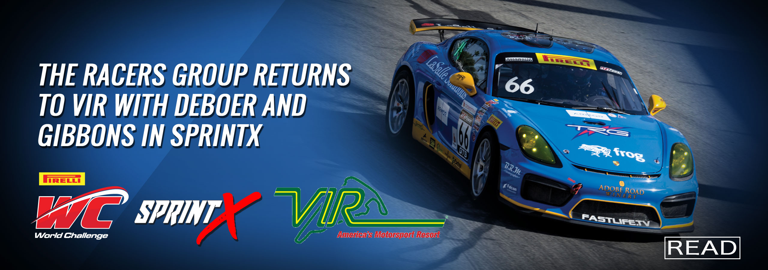 The Racers Group Returns to VIR with DeBoer and Gibbons in SprintX
