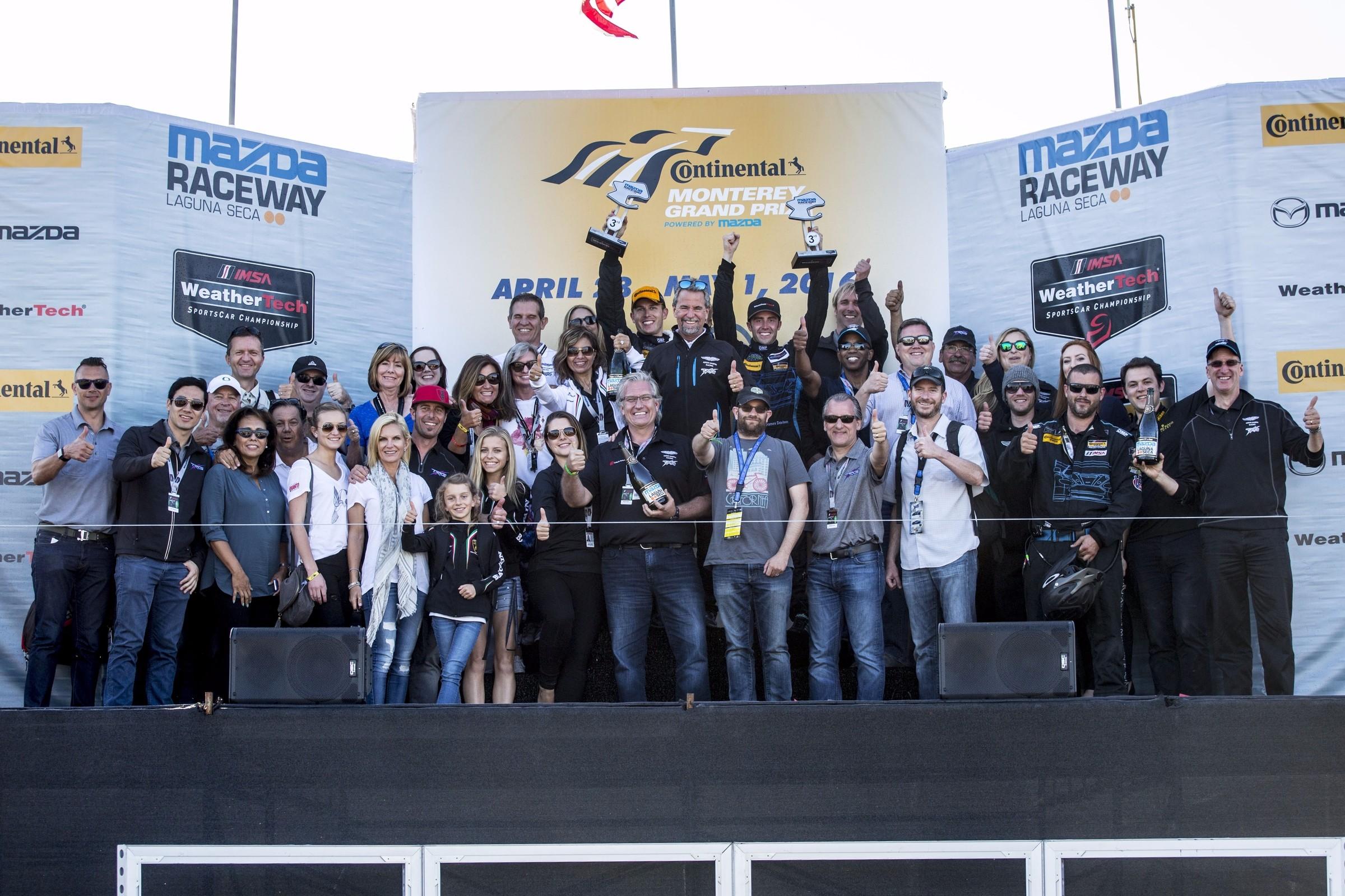 TRG Takes Double Podiums with Aston Martin and Lamborghini at Laguna Seca Raceway