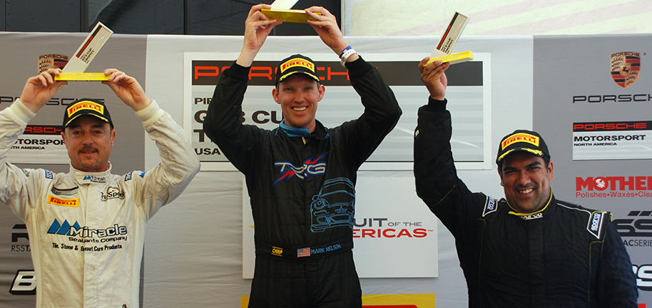 Mark Nelson Podium at Pirelli GT3 Trophy Cup series