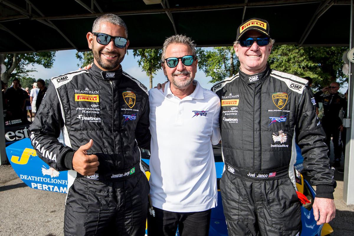 Jorge, Buckler and Janco post-race