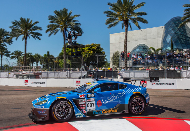 TRG Returns to Pirelli World Challenge with the 007 Aston Martin Vantage Gt3 at Grand Prix of St. Petersburg