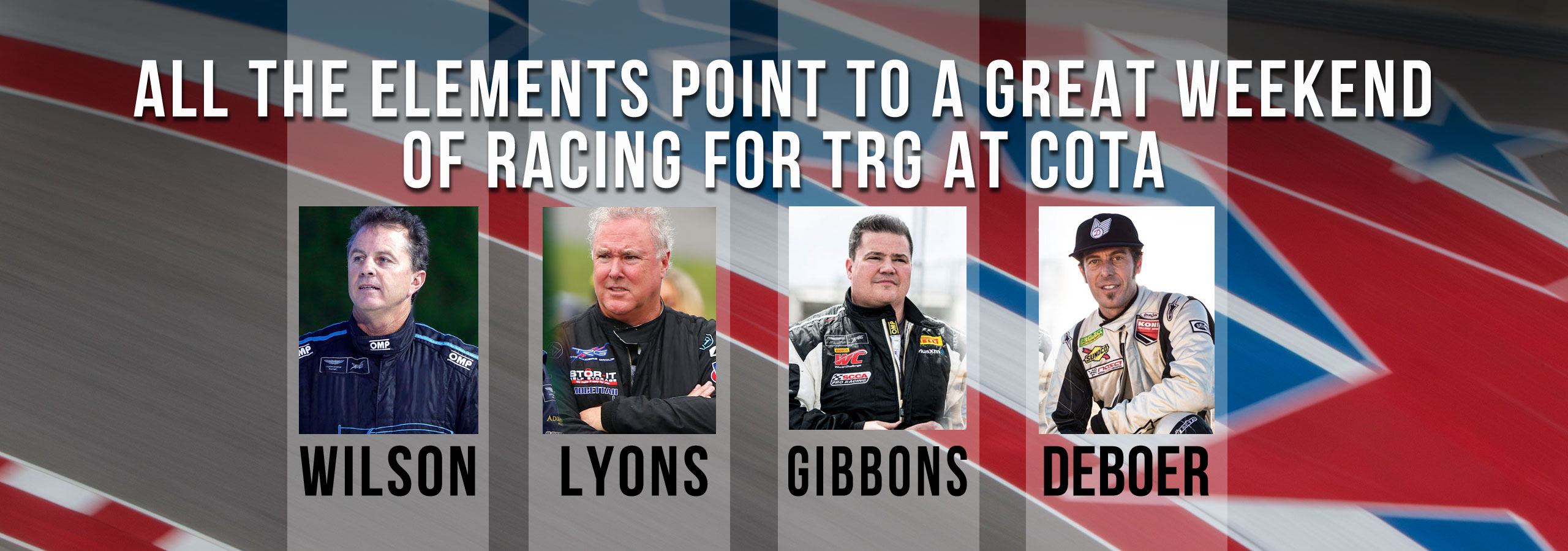 All the Elements Point to a Great Weekend of Racing for TRG at COTA