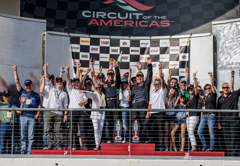 It's a TRG Double SprintX Win at COTA
