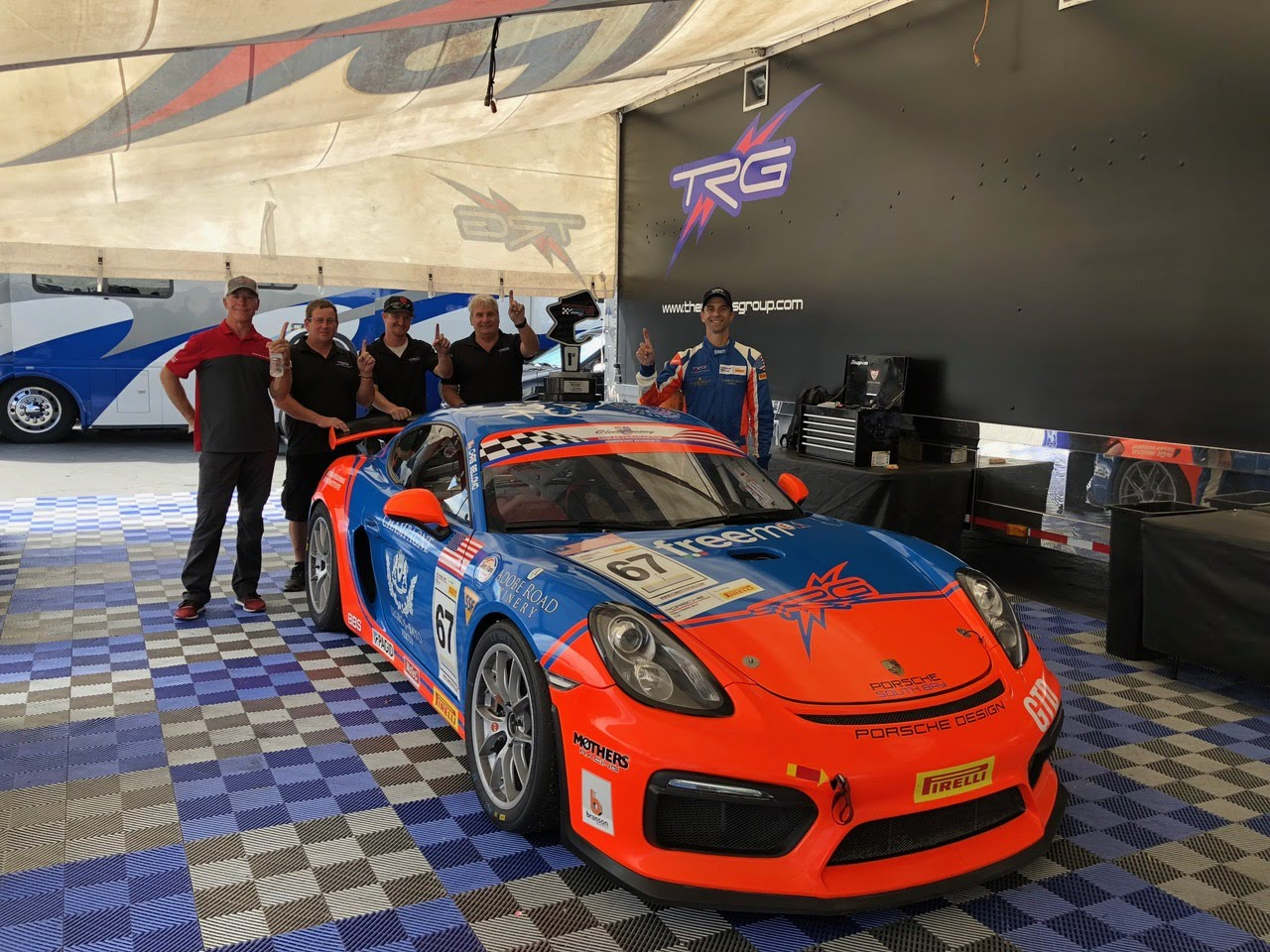 Chris Bellomo and team at Rennsport Reunion VI